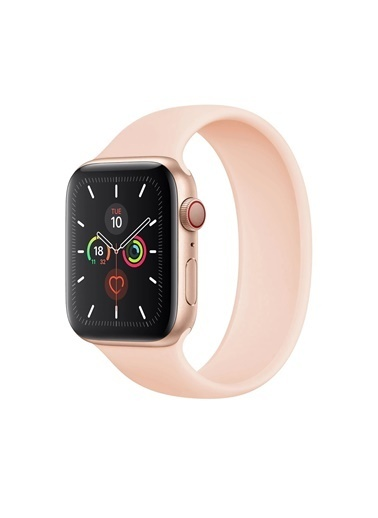 Jacobson Apple Kordon Solo Loop Watch 6 42Mm-44Mm Kordon Kayış Pembe